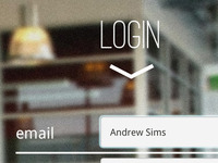 teaser for login screen of HTML5 web app