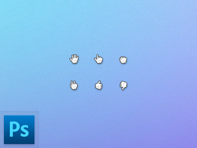 Download Hand Cursors PSD