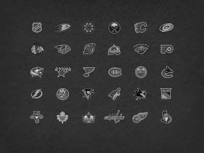 Nhl-monochrome-teams-logos