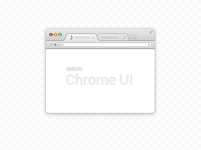 Download Micro Chrome UI (PSD)