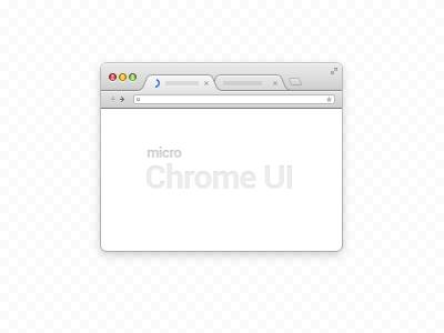 Download Micro Chrome UI (PSD)