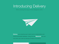 "Email design for ""Delivery"""