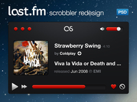 Last.fm Scrobbler Redesign - Black