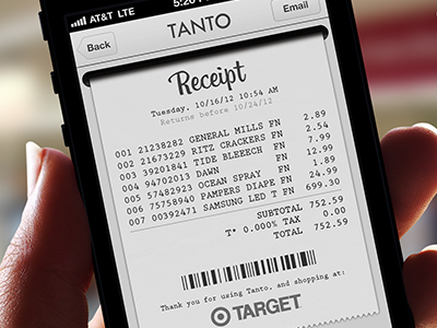 Receipt for Tanto App by Angel Ceballos