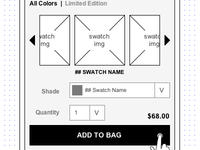 mCommerce - Wireframing Swatches