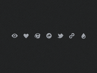 little dribbble icons