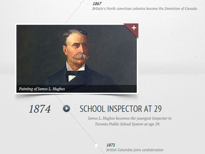 Dribbble-education-timeline-listing