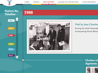 Toronto French School 50th Anniversary website