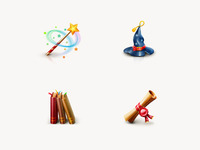Set of Magic icons
