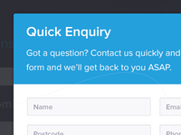Quick enquiry modal