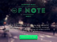 Quarterly Music Of Note