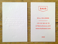 Saus business cards
