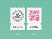My Dribbble »QR« Coupon ...