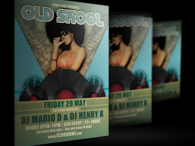 Oldskool-party-flyer