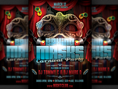 Behind-masks-carnival-party-flyer