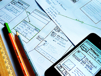 Wireframing iPhone App