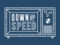 Down Up Speed Shirt Design