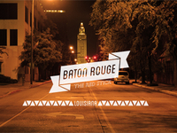 Baton Rouge Typography/Photo Poster