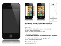 Iphone 4 vector illustration free download