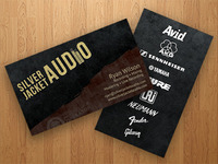 Silverjacket Audio - Business Card
