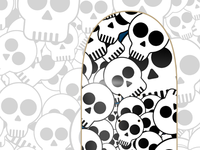 Skull Skateboard with background