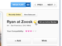 Zoosk New Profile