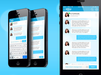 Skype Redesign Chat iOS7