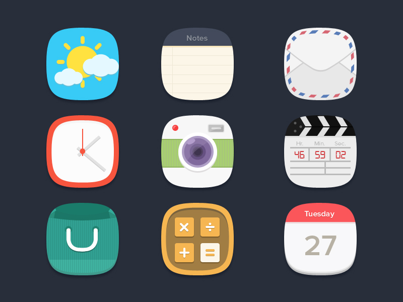 Flat Icons Freebie