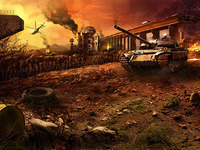Blastzone Zone Matte Painting and web site design