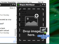 Drag and Drop Image Uploader for Google Chat