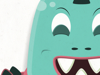 Teaser of a series of space monster illustrations