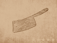 Wooden Cleaver