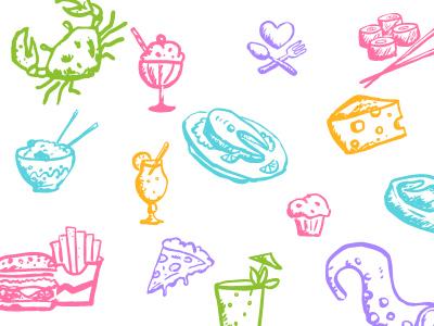 手绘食品及饮料图标