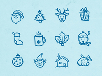 Hand-drawn Christmas Icons