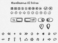 Hand-drawn UI kit 03
