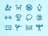 Hand-drawn Fitness Icons