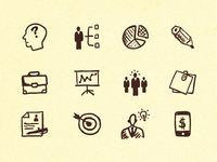 Hand-drawn Business and Office Icons