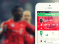Player Profile - COBE Munich iOS Design