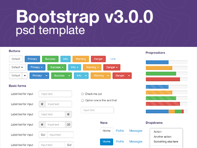 Download Bootstrap V3.0.0 PSD Template