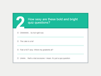 E-Learning WordPress Theme - Quiz Questions