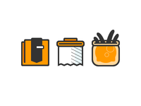 Fresh orange icons