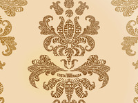 Typographic Damask Wallpaper Pattern