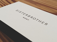 sisterbrother mgmt. business card backs
