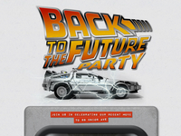 Party Invite - Back to the Future Themed