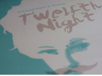 Twelfth Night Play Poster