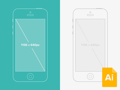 Download Illustrator iPhone 5 Wireframe Mockup