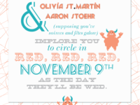 Olivia and Aaron's Save the Dates