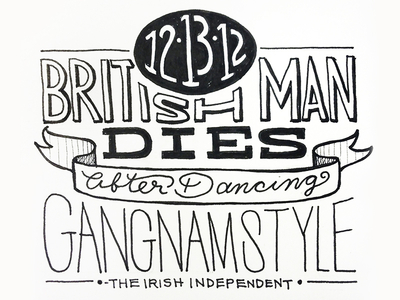 Hand-lettered Headline No. 10