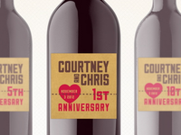 Courtney and Chris Anniversary Wine Labels