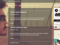 Hunter Hunted Website